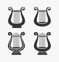 Greek harp symbol vector