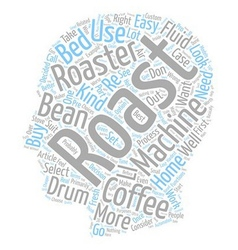 How to select a coffee roaster text background vector