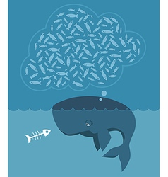 Hungry whale vector