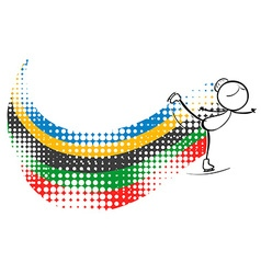 Olympics theme with woman doing roller skate vector