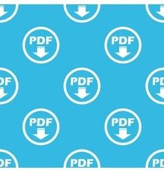 Pdf download sign blue pattern vector