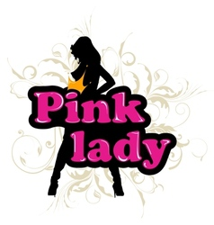 pink lady vector image