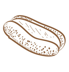 Retro bakery product vector