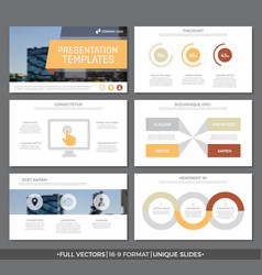 Set of red and orange elements for multipurpose vector