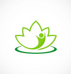 Spa lotus people abstract logo vector