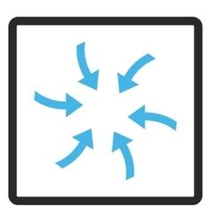 Twirl arrows framed icon vector