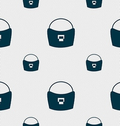 woman hand bag icon sign Seamless pattern with vector image vector image