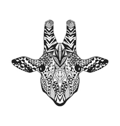 Zentangle stylized giraffe Sketch for tattoo or t vector image