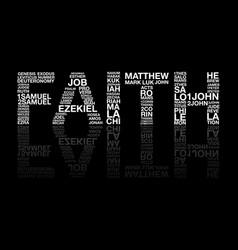 Faith from bible word vector