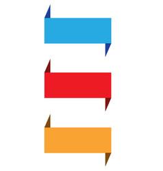 Set ribbon banner on white background blue vector