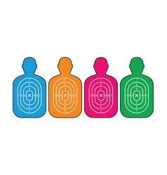 Group of men paper targets vector