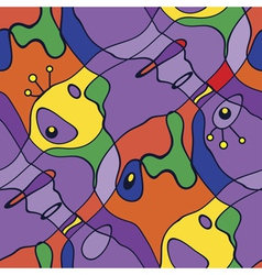 ornate colorful kids carpet background vector image