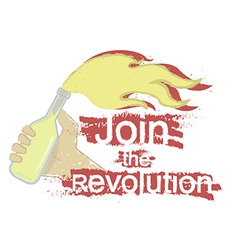 Join the revolution logo vector