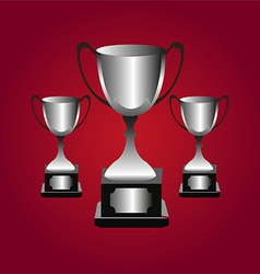 Trophies background vector