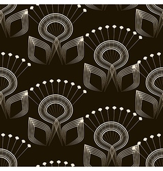 Seamless pattern monochrome art deco ornament vector
