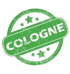 Cologne green stamp vector