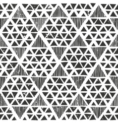 Hand drawn monochrome pattern primitive geometric vector