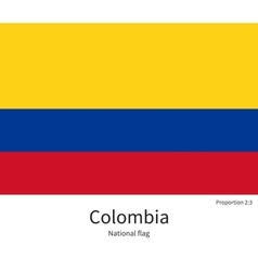 National flag of colombia with correct proportions vector