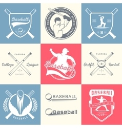 Set of logo and badges baseball vector