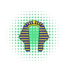Headdress of pharaoh icon comics style vector