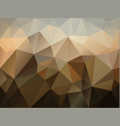 abstract irregular polygon background brown vector image