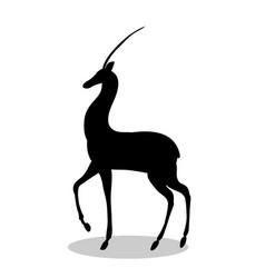 antelope mammal black silhouette animal vector image vector image