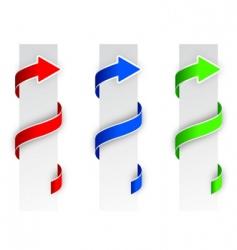 Arrow banners vector