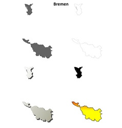 Bremen outline map set vector