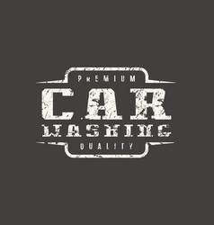 Car washing badge with shabby texture vector