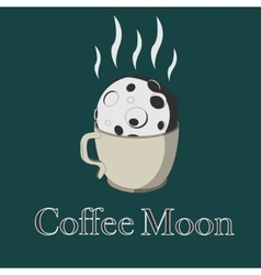 Coffee and moon vector image vector image
