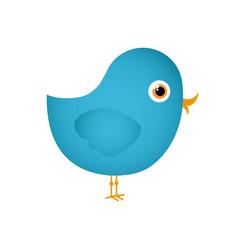 Colorful cute cartoon bird animal icon vector