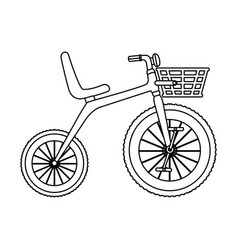 cute tricycle isolated icon vector image