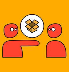 dropbox color icon realistic icon or logo vector image vector image