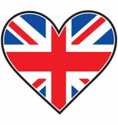 England heart flag vector image vector image