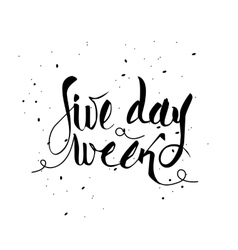 Five day week vector