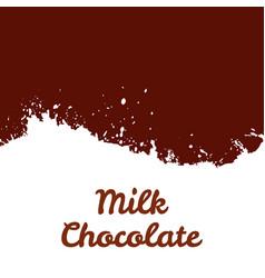 fresh milk chocolate splash stream vector image