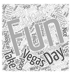 Good family fun in vegas word cloud concept vector