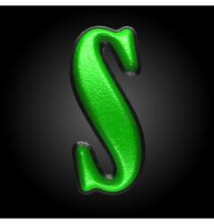 Green plastic figure s vector