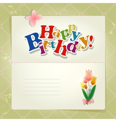 Happy birthday background or card vector