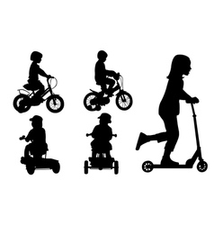 Kids on bikes vector
