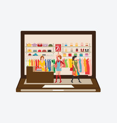 Online fashion store vector