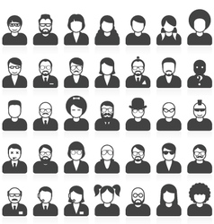 People avatars and user pics in different style vector