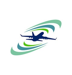 Plane Vacation Travel Logo Icon vector image