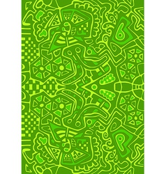 Psychedelic mosaic pattern Abstract design vector image