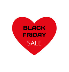 red heart with words - black friday and sale on vector image vector image