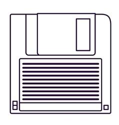 Retro diskette technology design vector