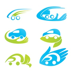 Safety eco cars vector