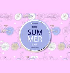 super summer bike sale concept vector image vector image