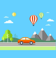 Travel with landscape vector