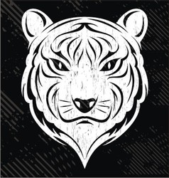 White Tiger Head vector image vector image